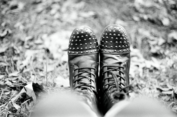 I love boots. Kodak Portra 400