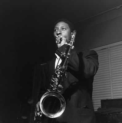 Sonny Rollins takes a break during the recording his 1957 album, Sonny Rollins, Volume II.