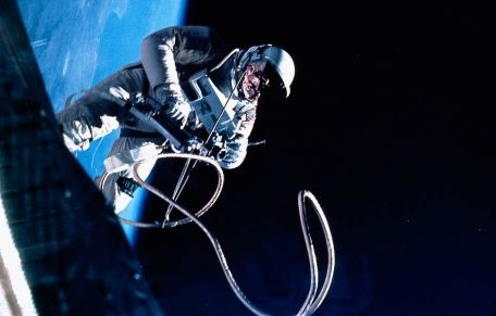 Film photograph in space. Photo courtesy of Hasselblad.com.