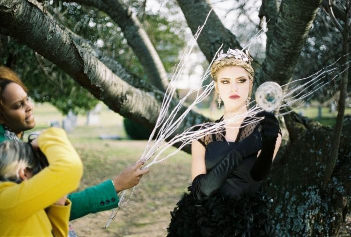 Evil Queen mirror gazing.