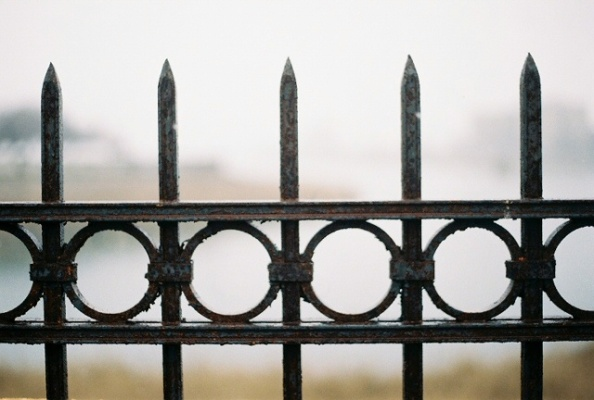 Fence around the lake