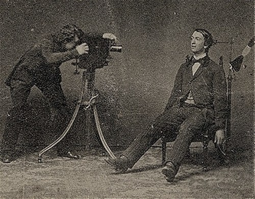 Victorian photographer at work.