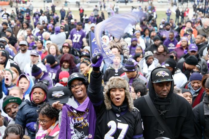 Purple pride crowd!