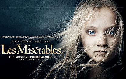 Les Miserables was shot in film