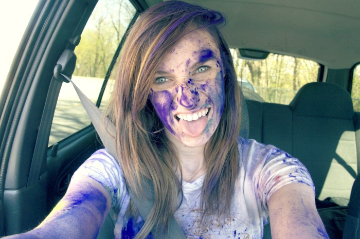 After popular demand through my Facebook photo page, here is what I looked like after this color war.