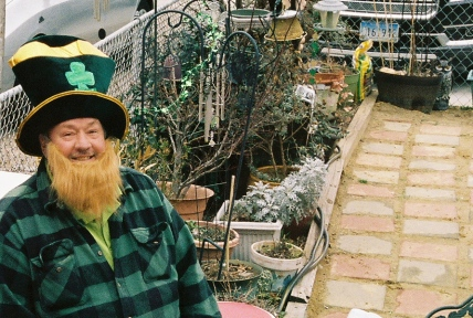 My uncle this past St. Patrick's day. Kodak Portra 400/Canon AE-1