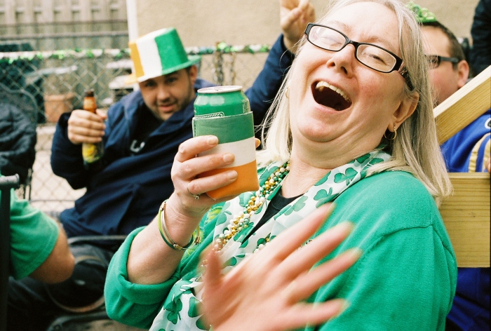 My aunt this past St. Patricks day. Kodak Portra 400/Canon AE-1