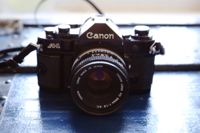 Canon A-1 purchased from eBay for $40 with lens and flash.