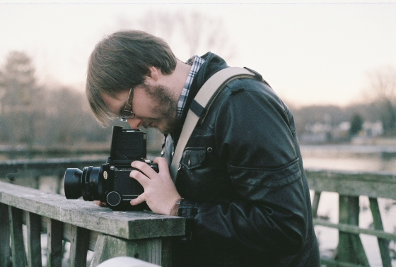 Andrew with his Mamiya RB67