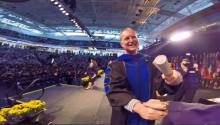 The moment I graduated. More on the GO-PRO video later.