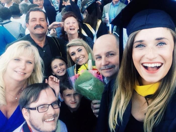 Family selfie, Ellen style.