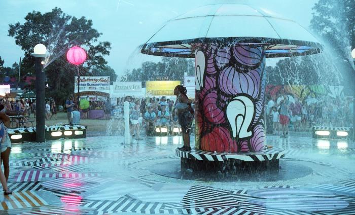 Mushroom Fountains helped the heat