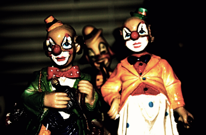 …..bad flash and scary clowns.