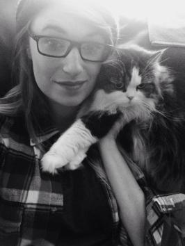 Fall time means flannels, beanies and kitty cats.