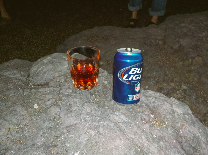 Late night beach celebration