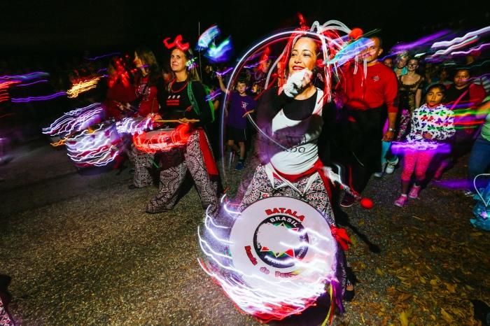 Halloween Lantern Parade shot for The Baltimore Sun - f/9, ISO 400, 6 second shutter speed