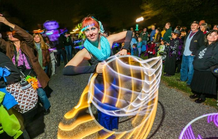 Halloween Lantern Parade shot for The Baltimore Sun - f/8, ISO 400, 10 second shutter speed