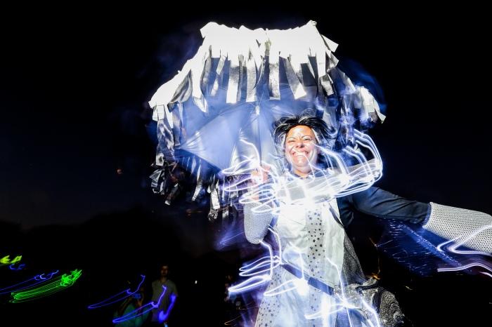 Halloween Lantern Parade shot for The Baltimore Sun - f/9, ISO 400, 9 second shutter speed