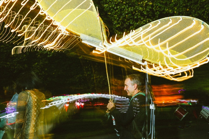 Halloween Lantern Parade shot for The Baltimore Sun - f/9, ISO 400, 8 second shutter speed