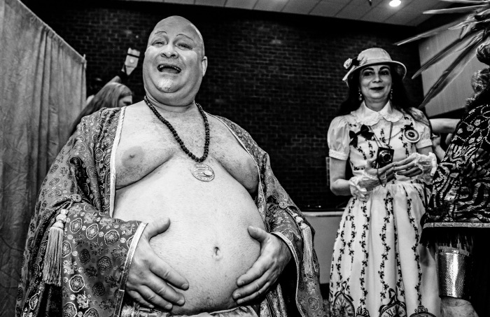 "Baltimore, MD -- May 24, 2014 -- Larry Dellaquila as ""Buddha"" at the Balticon event this past weekend. Sci-Fi and Fantasy fans from all over came to browse vendors and participate in costume contests as well as to read the latest written works. (Kaitlin Newman/Baltimore Sun)"