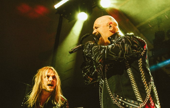 Baltimore, MD -- October 24, 2014 --  Judas Priest performed this past Friday at Pier V Pavillion. (Kaitlin Newman/Baltimore Sun)