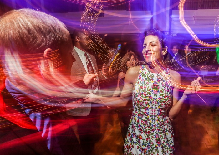 Baltimore, MD — January 10, 2015 —Guests enjoy the dance floor at the Rhythm and Blues Ball after-party this past weekend. The ball was to benefit the Everyman Theatre. (Kaitlin Newman/Baltimore Sun)