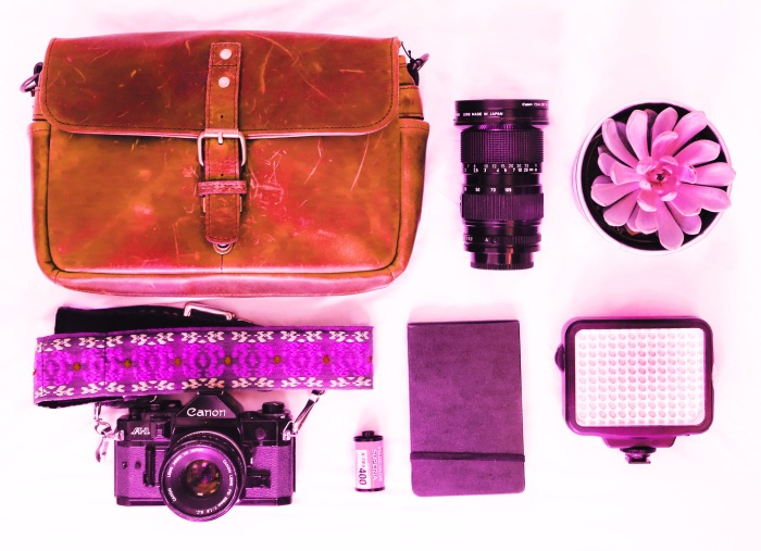 Flat lay, filtered.