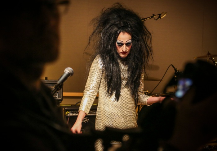 Towson, Md - October 16, 2015 - Ellen Degenerate waits to perform at WTMD during a tribute to the late actor Divine this past Saturday. (Kaitlin Newman for The Baltimore Sun)